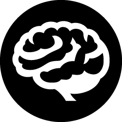Brain icon for cognitive decline